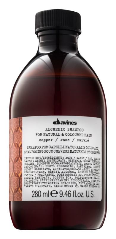 Davines Alchemic Copper szampon dla podkreślenia koloru włosów