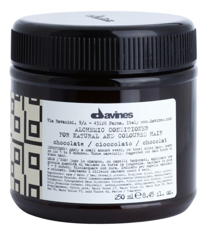 Davines Alchemic Chocolate Moisturizing Conditioner for Hair Color Enhancement