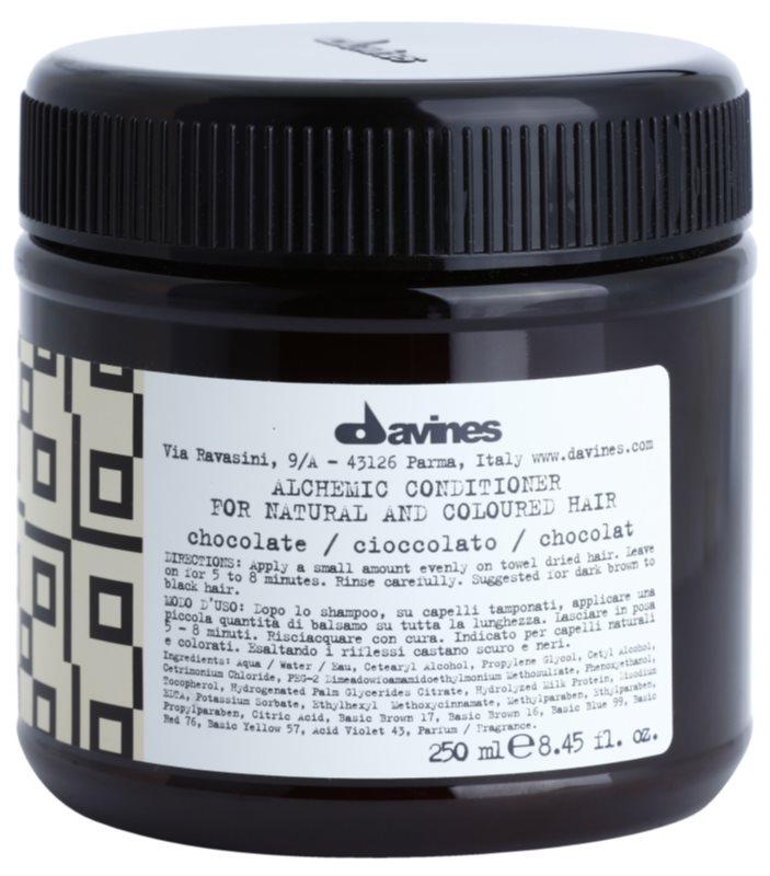 Davines Alchemic Chocolate vlažilni balzam za intenzivnost barve las