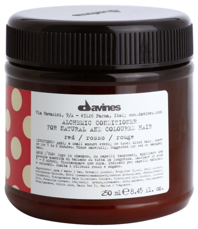 Davines Alchemic Red hydratační kondicionér pro zvýraznění barvy vlasů
