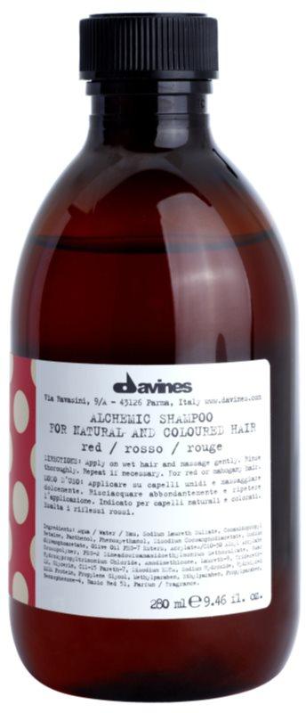 Davines Alchemic Red šampón pre zvýraznenie farby vlasov
