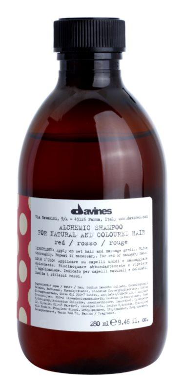 Davines Alchemic Red szampon dla podkreślenia koloru włosów
