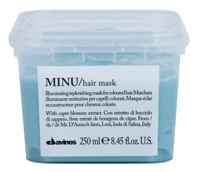 Davines Minu Caper Blossom masca regeneratoare pentru par vopsit