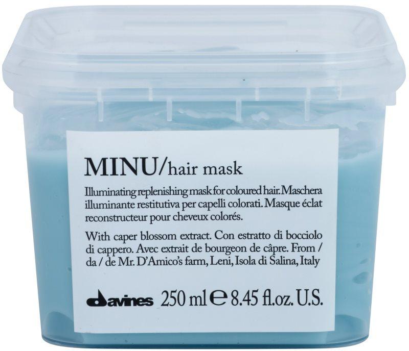 Davines Minu Caper Blossom obnovujúca maska pre farbené vlasy