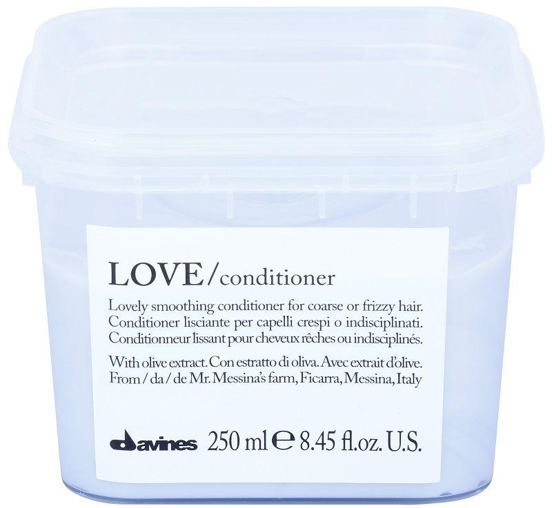 Davines Love Olive кондиціонер для розгладження волосся для неслухняного та кучерявого волосся