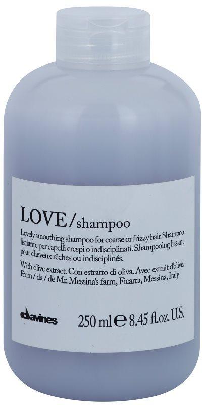 Davines Love Olive шампунь для розгладження волосся для неслухняного та кучерявого волосся