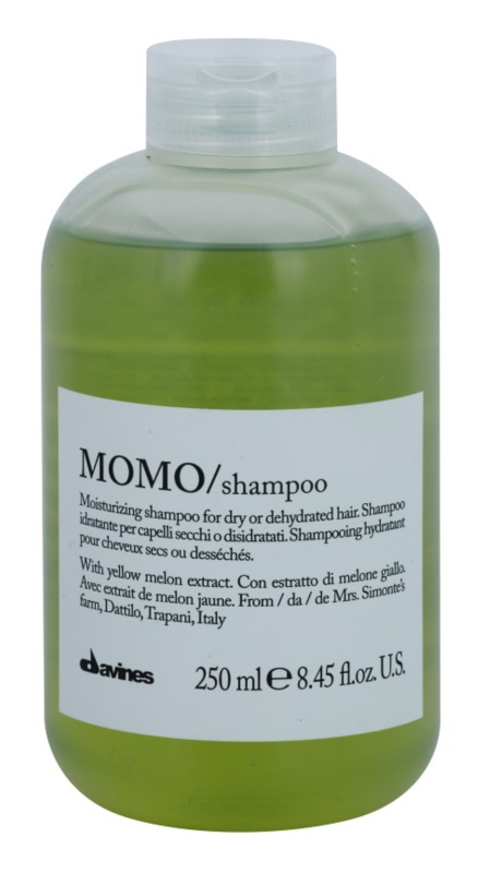Davines Momo Yellow Melon champô hidratante  para cabelo seco