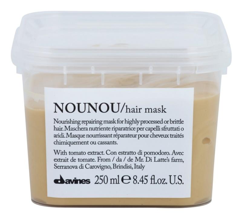 Davines NouNou Tomato máscara nutritiva para cabelos danificados e quimicamente tratados