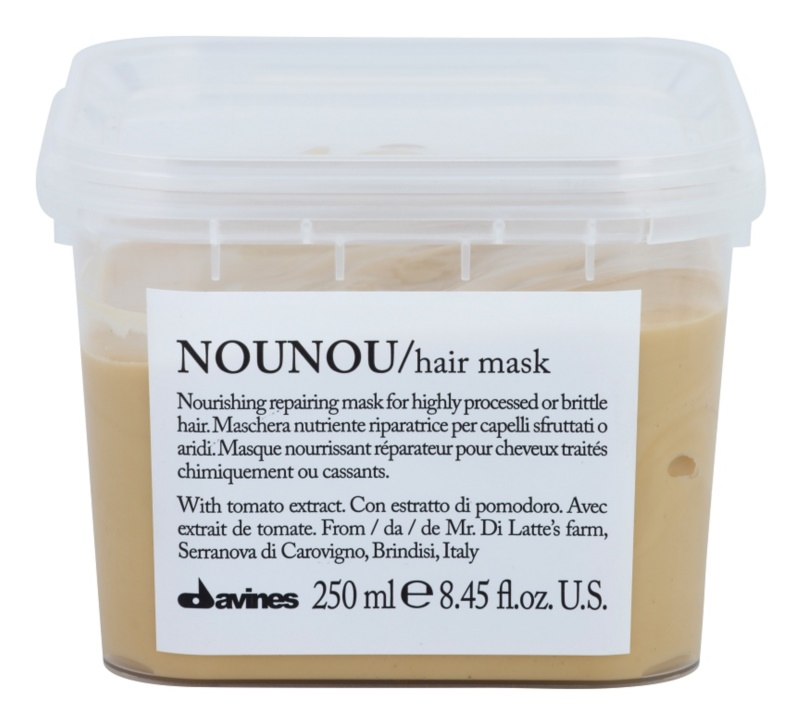 Davines NouNou Tomato vyživujúca maska pre poškodené, chemicky ošetrené vlasy