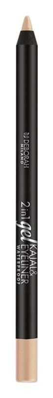 Deborah Milano 2in1 водостійкий контурний олівець для очей