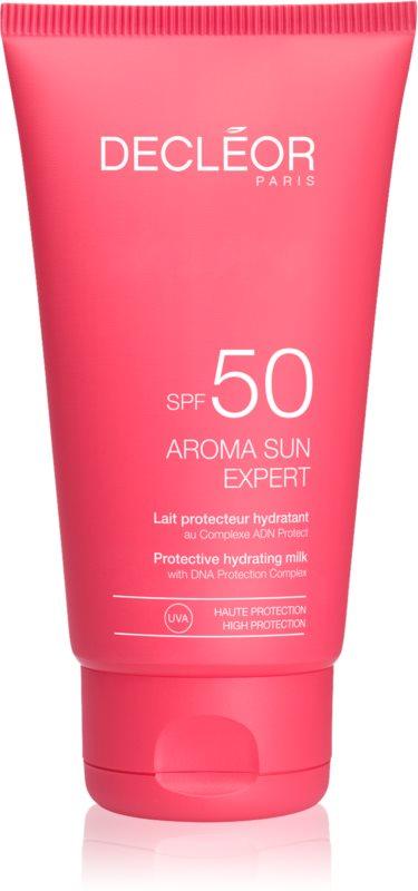 Decléor Aroma Sun Expert creme bronzeador para rosto com efeito antirrugas SPF50