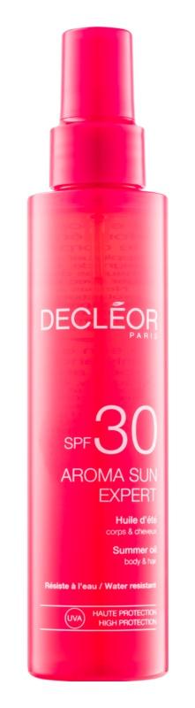 Decléor Aroma Sun Expert універсальна олійка для засмаги для тіла та волосся SPF 30