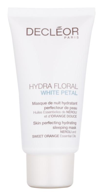 Decléor Hydra Floral White Petal Feuchtigkeitsspendende und Hautperfektionierende Schlaf-Maske
