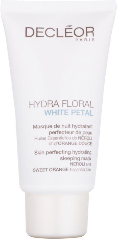 Decléor Hydra Floral White Petal izpopolnjevalna in vlažilna maska za čez noč
