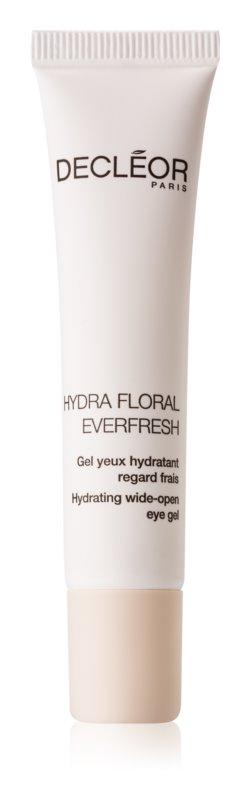 Decléor Hydra Floral Everfresh vlažilni gel za predel okoli oči za posvetlitev in zgladitev kože