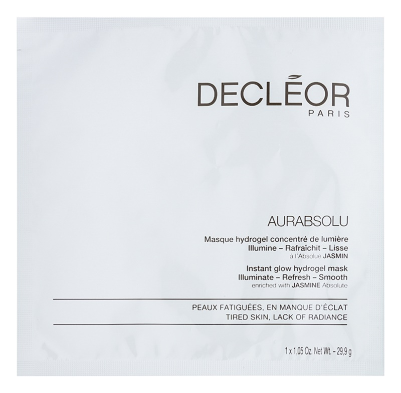 Decléor Aurabsolu hydrogelová maska pro rozjasnění a vyhlazení pleti