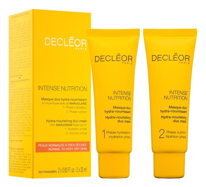 Decléor Intense Nutrition hydratačná a vyživujúca pleťová maska duo
