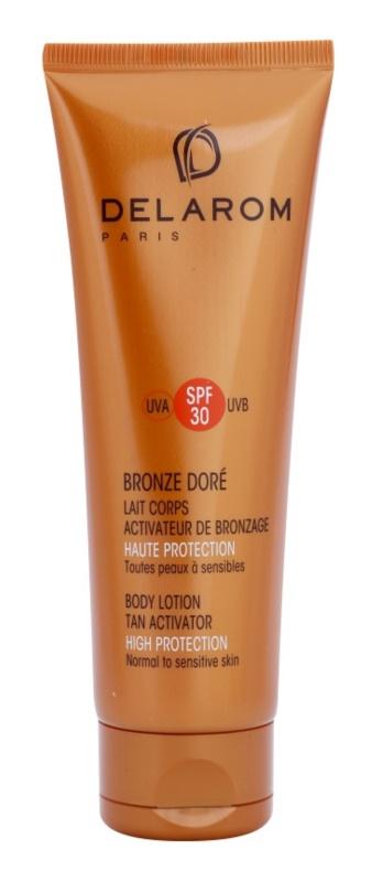 Delarom Bronze Doré ochranné tělové mléko s opalovacím aktivátorem SPF 30