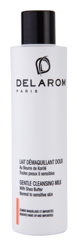 Delarom Cleaning and Removing lait nettoyant doux au beurre de karité
