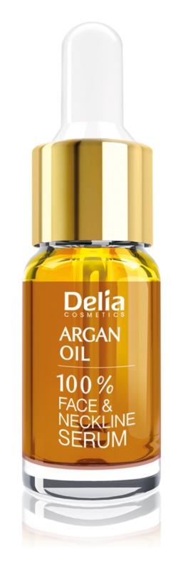 Delia Cosmetics Professional Face Care Argan Oil intenzivní regenerační a omlazující sérum s arganovým olejem na obličej, krk a dekolt