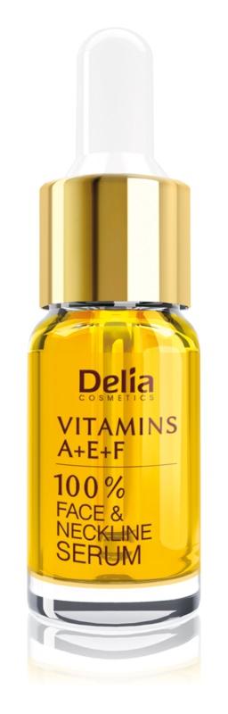 Delia Cosmetics Professional Face Care Vitamins A+E+F Anti-Rimpel Serum  voor Gezicht en Decolleté