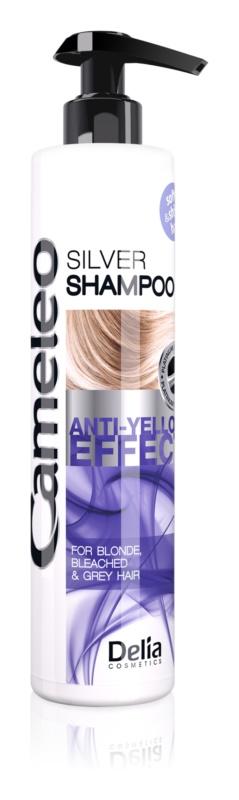 Delia Cosmetics Cameleo Silver Shampoo neutralisiert gelbe Verfärbungen