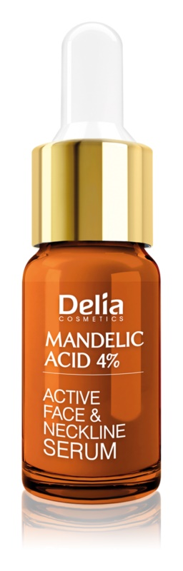 Delia Cosmetics Professional Face Care Mandelic Acid vyhladzujúce sérum s kyselinou mandľovou na tvár, krk a dekolt