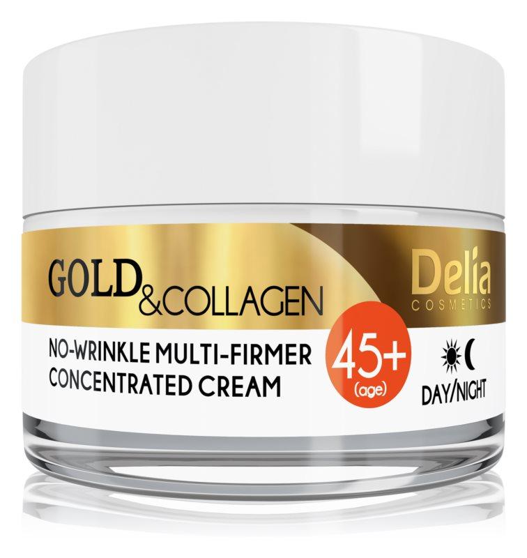 Delia Cosmetics Gold & Collagen 45+ učvrstitvena krema proti gubam