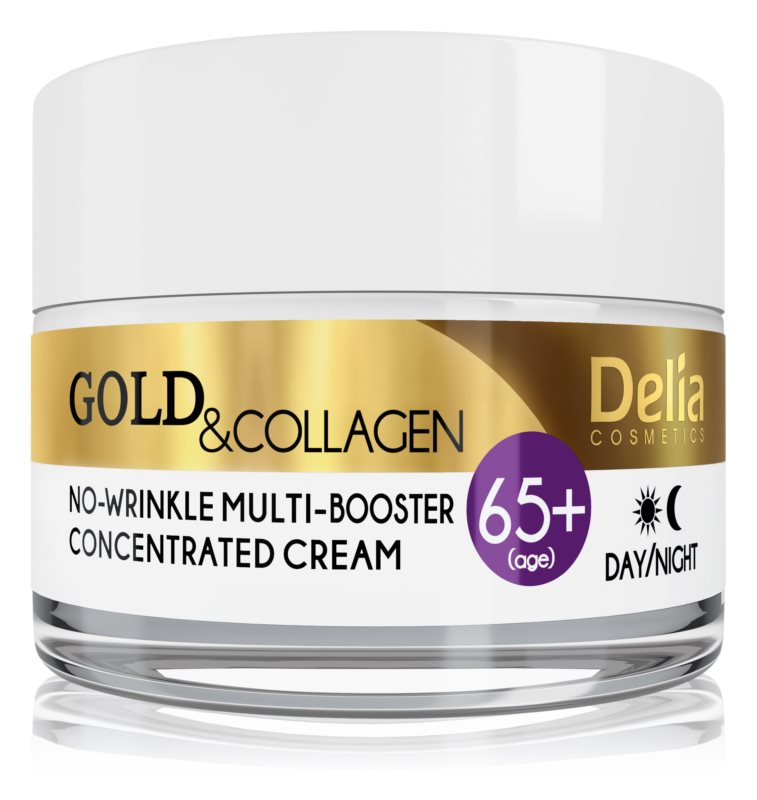 Delia Cosmetics Gold & Collagen 65+ protivráskový krém s regeneračným účinkom