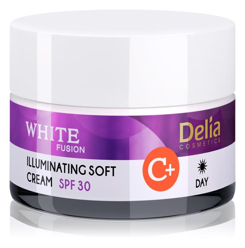 Delia Cosmetics White Fusion C+ aufhellende Tagescreme für hyperpigmentierte Haut SPF 30