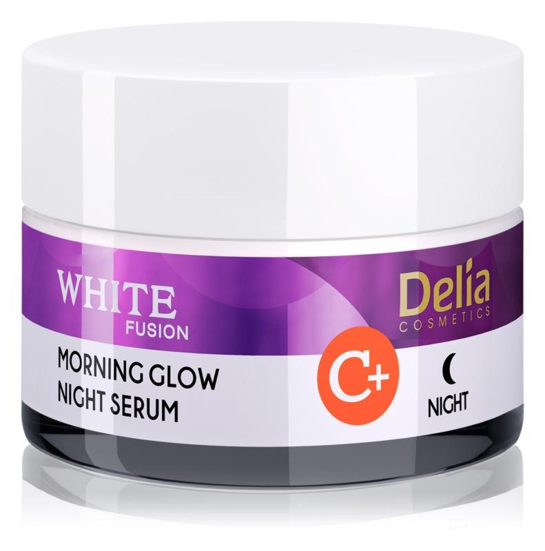Delia Cosmetics White Fusion C+ crème de nuit illuminatrice anti-rides