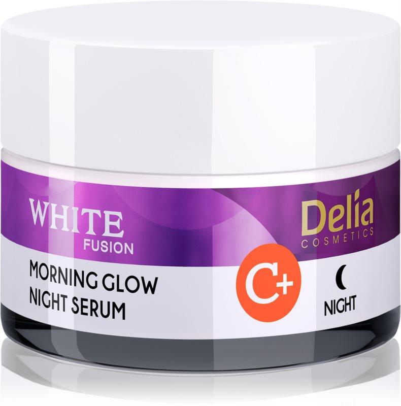 Delia Cosmetics White Fusion C+ posvetlitvena nočna krema proti gubam