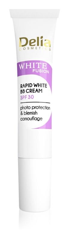 Delia Cosmetics White Fusion C+ роз'яснюючий ВВ крем проти пігментних плям SPF 30