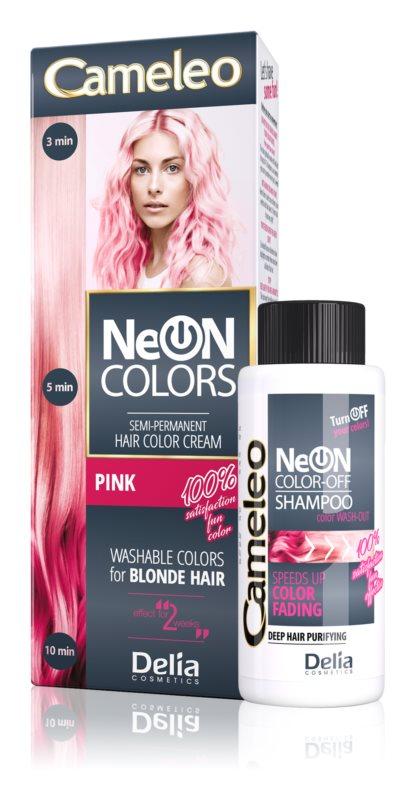 Delia Cosmetics Cameleo Neon Colors vymývající se barva pro blond vlasy