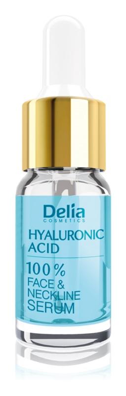 Delia Cosmetics Professional Face Care Hyaluronic Acid intensives festigendes Serum gegen Falten mit Hyaluronsäure für Gesicht, Hals und Dekolleté