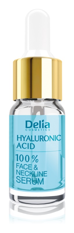 Delia Cosmetics Professional Face Care Hyaluronic Acid sérum intensivo de preenchimento antirrugas com ácido hialurónico para rosto, pescoço e decote