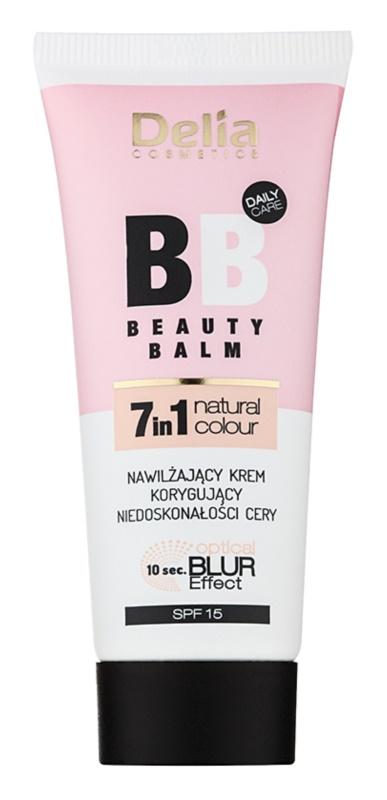 Delia Cosmetics Optical Blur Effect Beauty Balm hidratáló BB krém a bőr tökéletlenségei ellen SPF15