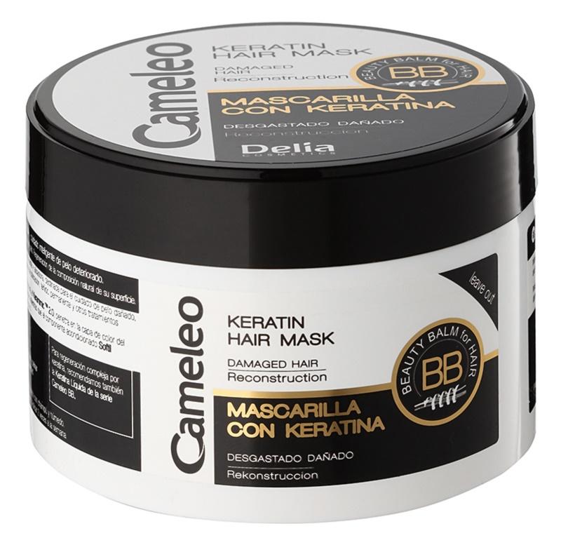 Delia Cosmetics Cameleo BB masque à la kératine pour cheveux abîmés