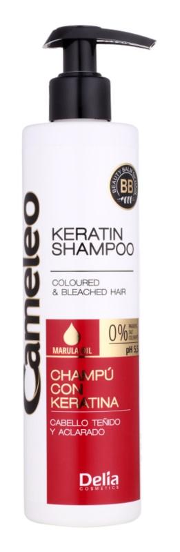 Delia Cosmetics Cameleo BB keratínový šampón pre farbené a melírované vlasy