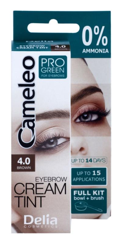 Delia Cosmetics Cameleo Pro Green barva na obočí bez amoniaku