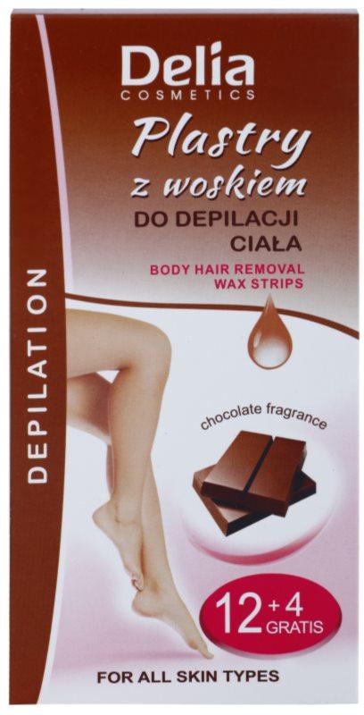 Delia Cosmetics Depilation Chocolate Fragrance voskové depilačné pásiky na telo
