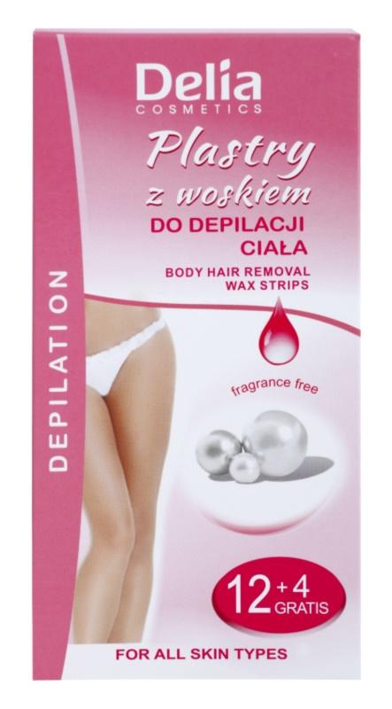 Delia Cosmetics Depilation Fragrance Free bandes de cire pour épilation corps