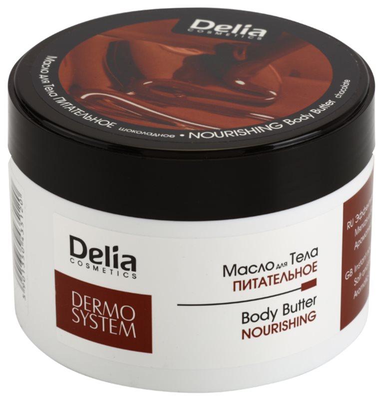 Delia Cosmetics Dermo System Manteiga corporal hidratante com manteiga de karité e chocolate