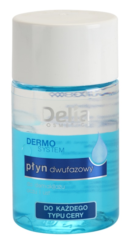 Delia Cosmetics Dermo System removedor de maquilhagem bifásico para contornos dos olhos e lábios