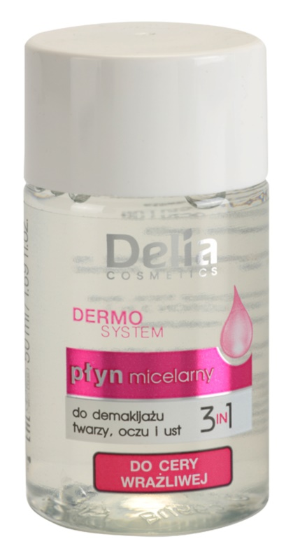 Delia Cosmetics Dermo System Micellar Water for Eye and Lip Area 3 In 1