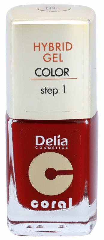 Delia Cosmetics Coral Nail Enamel Hybrid Gel Gel Nail Polish