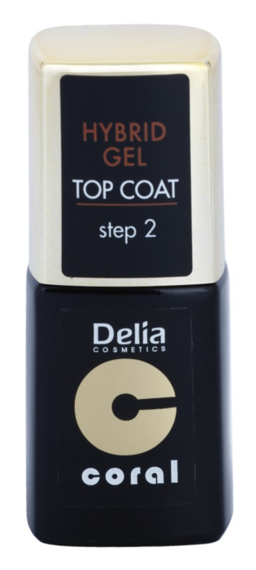 Delia Cosmetics Coral Nail Enamel Hybrid Gel gelový vrchní lak na nehty