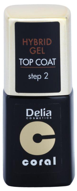 Delia Cosmetics Coral Nail Enamel Hybrid Gel gélový vrchný lak na nechty
