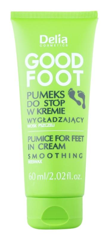 Delia Cosmetics Good Foot habkő lábra krémben