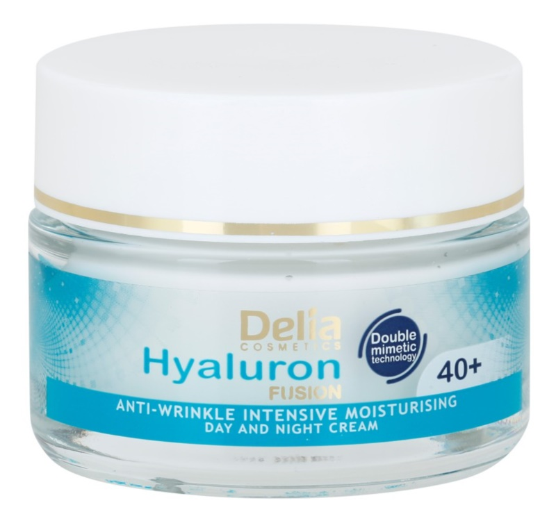 Delia Cosmetics Hyaluron Fusion 40+ creme antirrugas de hidratação intensa